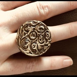 Gorgeous painted Coco Wood Ring